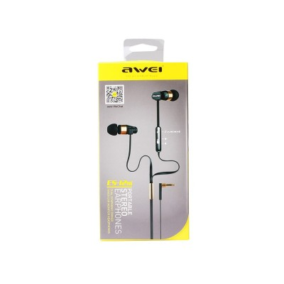 WIRED EARPHONES AWEI ES-12Hi 1.2m Κόκκινο
