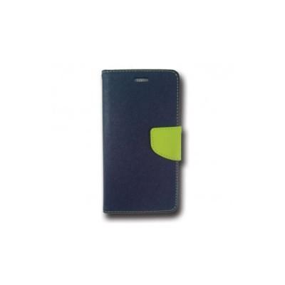 FANCY BOOK CASE - SAMSUNG GALAXY J1 ACE (J110) Navy-lime