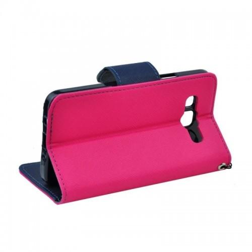 FANCY BOOK CASE - SAMSUNG GALAXY S6 EDGE (G925) Pink-navy