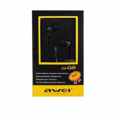 WIRED EARPHONES AWEI Q8 1.2m Μαύρο