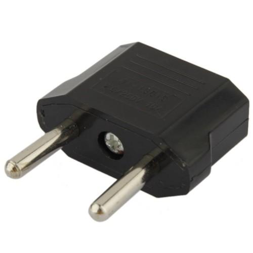 US to EU Plug Charger Adapter, Travel Power Adaptor with Europe Socket Plug (Black)