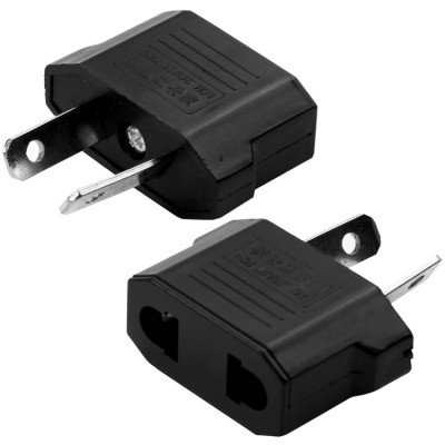 High Quality US Plug to AU Plug AC Wall Universal Travel Power Socket Plug Adaptor (Black)