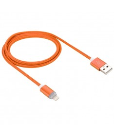 1m Woven Style 8pin to USB Data Sync Cable with LED Indicator Light (ORANGE)