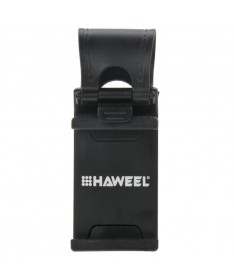 HAWEEL Βάση στήριξης τηλεφώνου τιμονιού (μαύρο) για το iPhone, το Galaxy, το Huawei, το Xiaomi, το LG, το HTC, Smartphones