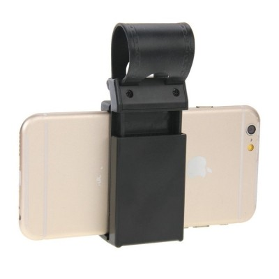 Universal Car Steering Wheel Phone Mount Holder (black) For iPhone, Galaxy, Huawei, Xiaomi, LG, HTC and other Smartphones