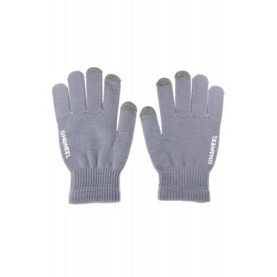 HAWEEL γάντια οθόνης με τρία δάχτυλα αφής , για άνδρες(Γκρι)