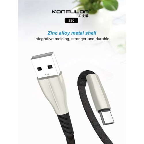 Konfulon type-C cable charging and data cable S90