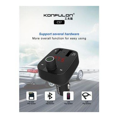 Konfulon car charger and bluetooth hands-free  C57