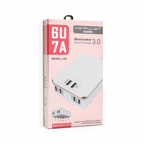 Konfulon Quick charger with 6 usb port C29