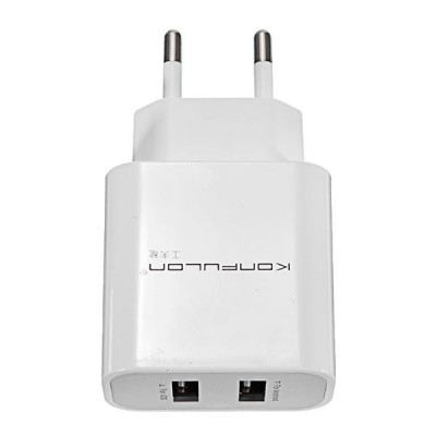 Konfulon Dual Usb Adaptor 2.1A C18 (White)