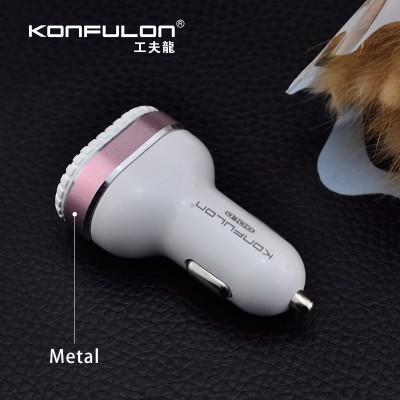 Konfulon car charger 3 usb c28(Χρυσό)