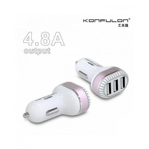 Konfulon car charger 3 usb c28(Χρυσό)