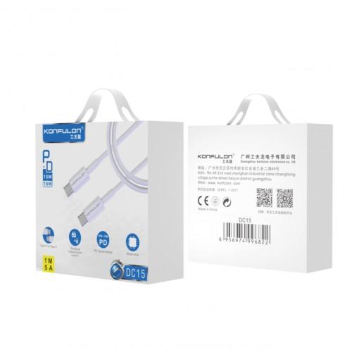 Konfulon Cable DC15 TYPE-C 1m 2.4A