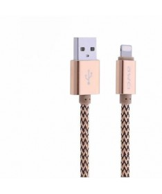 LIGHTNING DATA CABLE AWEI CL-300 Rose gold