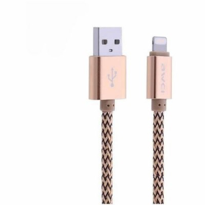 LIGHTNING DATA CABLE AWEI CL-300 Ροζ χρυσό
