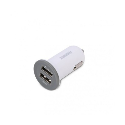 REMAX UNIVERSAL 2.1A MINI CAR CHARGER 2X USB White