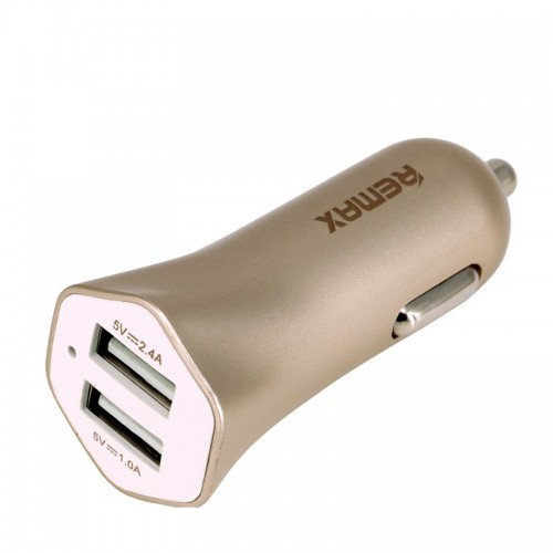 CAR CHARGER UNIVERSAL REMAX 2X USB FAST 7 GOLD