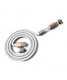 REMAX WK GEMINI 2 IN 1 CABLE White