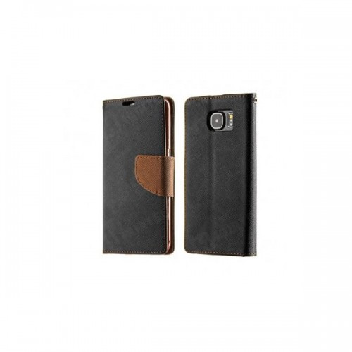 FANCY BOOK CASE - HUAWEI ASCEND P9 LITE BLACK-BROWN