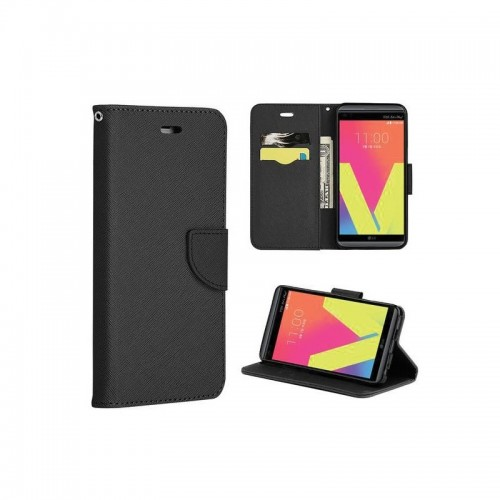 FANCY BOOK CASE - LENOVO A369 BLACK