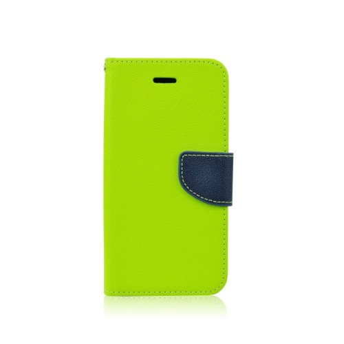 FANCY BOOK CASE - MICROSOFT LUMIA 640 LIME-NAVY