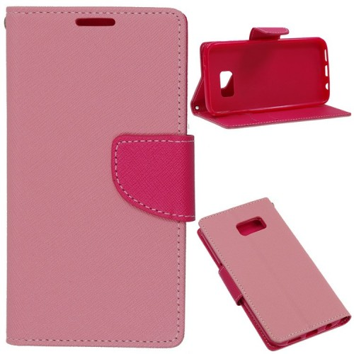 FANCY BOOK CASE - SAMSUNG GALAXY A3 (A300) PINK
