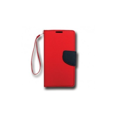 FANCY BOOK CASE - SAMSUNG GALAXY J1 ACE (J110) RED-NAVY