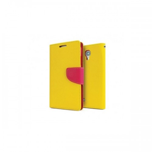 FANCY BOOK CASE - SAMSUNG GALAXY S6 EDGE (G925) YELLOW-PINK