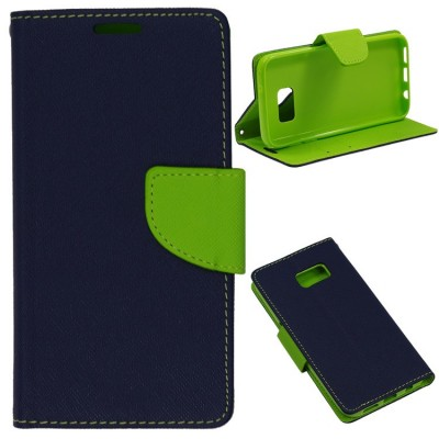 FANCY BOOK CASE - SAMSUNG GALAXY S6 EDGE PLUS (G928) NAVY-LIME