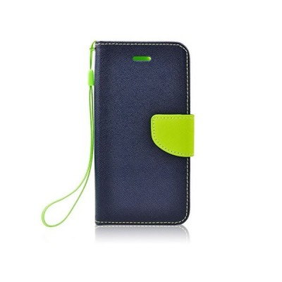 FANCY BOOK CASE - SONY M4 AQUA NAVY-LIME