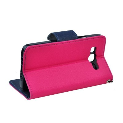 FANCY BOOK CASE - SONY M4 AQUA PINK-NAVY