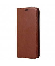 MAGNET BOOK CASE - IPHONE 7 BROWN