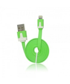 USB FLAT CABLE - IPHONE 5/5C/5S/6/6 PLUS/IPAD MINI ΠΡΑΣΙΝΟ