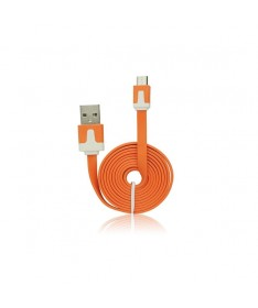 USB FLAT CABLE - IPHONE 5/5C/5S/6/6 PLUS/IPAD MINI ORANGE